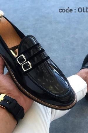 Siyah Rugan Ayakkabı - OLD 4125
