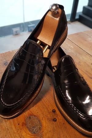 Siyah Rugan Ayakkabı - OLD 4101