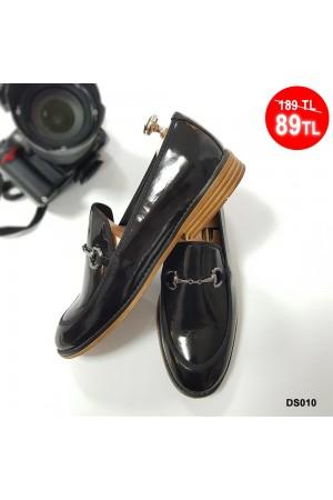 Erkek Ayakkabı Siyah Rugan DS010