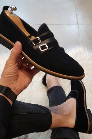 Siyah Süet Ayakkabı - OLD 4131