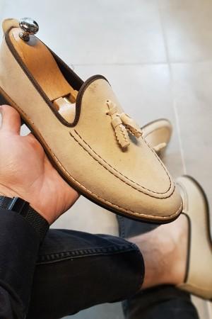 Krem Süet Ayakkabı - OLD 4055