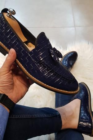 Lacivert Rugan Ayakkabı - OLD 4036