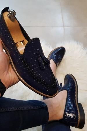 Lacivert Rugan Ayakkabı - OLD 4032