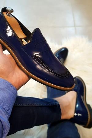 Lacivert Rugan Ayakkabı - OLD 4102