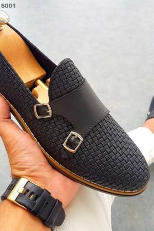 Siyah Kareli Ayakkabı - OLD 6001